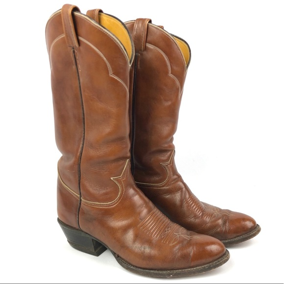3b48d6f82bc TONY LAMA Mens 9 Western Boots 5084 Leather Cowboy